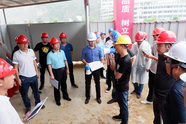 On site construction training of cement blanket