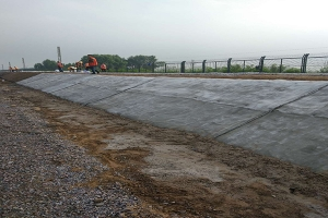 Slope protection by China Railway 14th Bureau