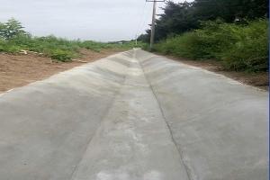 Installation of cement blanket